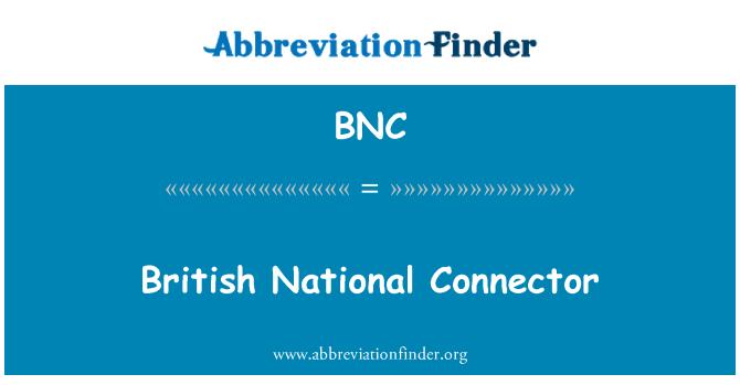 BNC: British National Connector