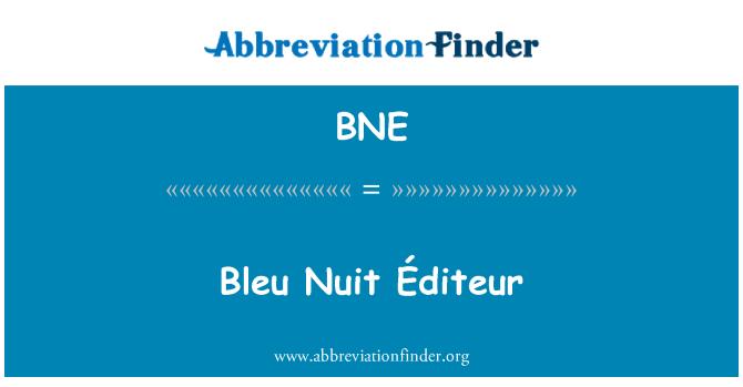 BNE: Bleu Nuit Éditeur