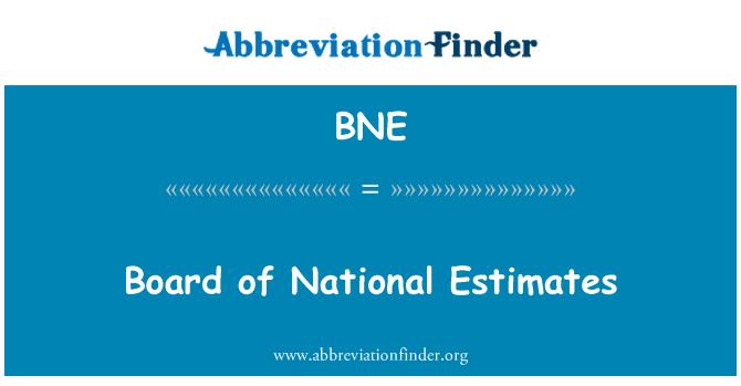 BNE: Board of National Estimates