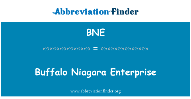 BNE: Buffalo Niagara Enterprise