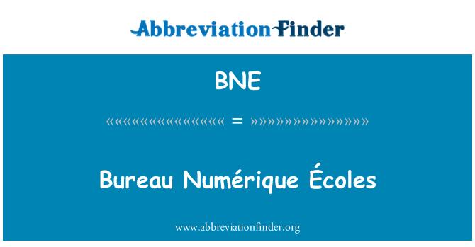 BNE: Bureau Numérique Écoles