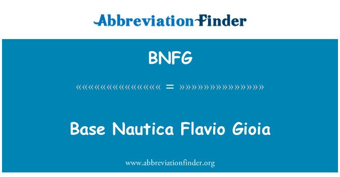 BNFG: Base Nautica Flavio Gioia