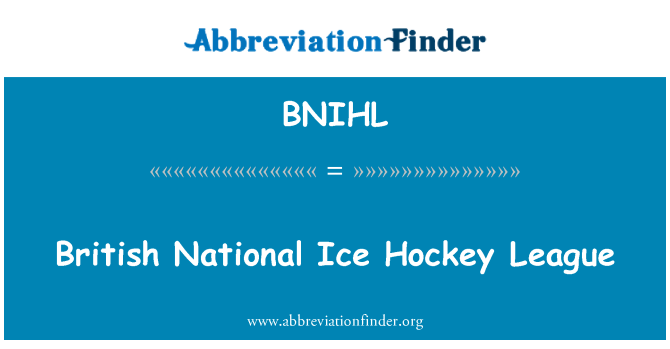 BNIHL: British National Ice Hockey League