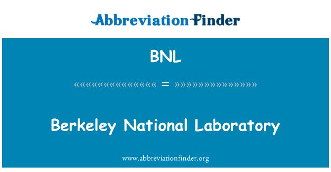 BNL: Berkeley National Laboratory