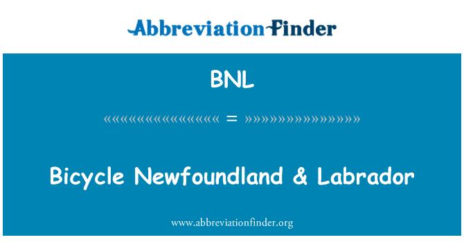 BNL: Bicycle Newfoundland & Labrador