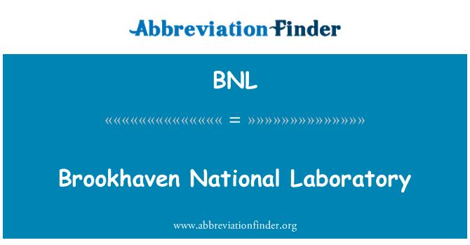 BNL: Brookhaven National Laboratory