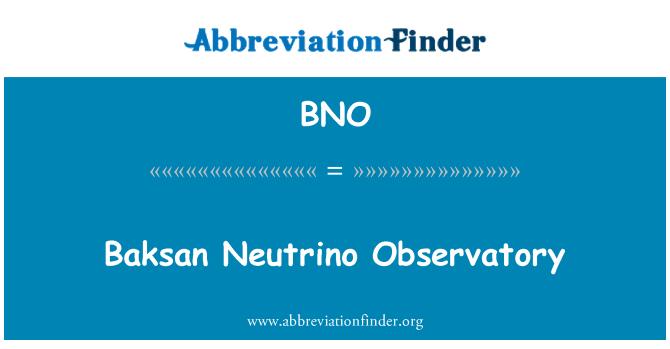 BNO: Baksan Neutrino Observatory