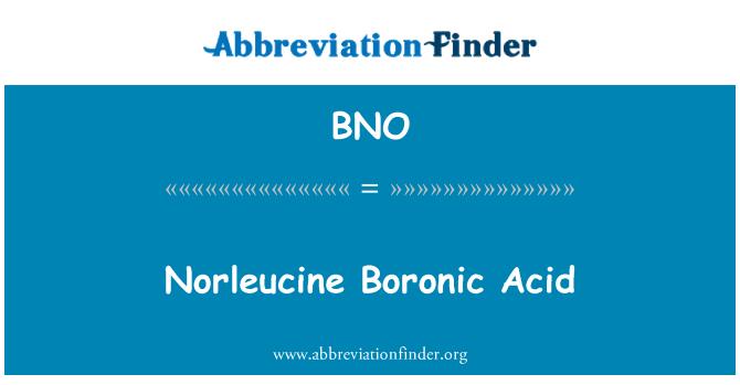 BNO: Norleucine Boronic Acid