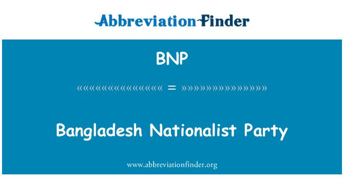 BNP: Bangladesh Nationalist Party