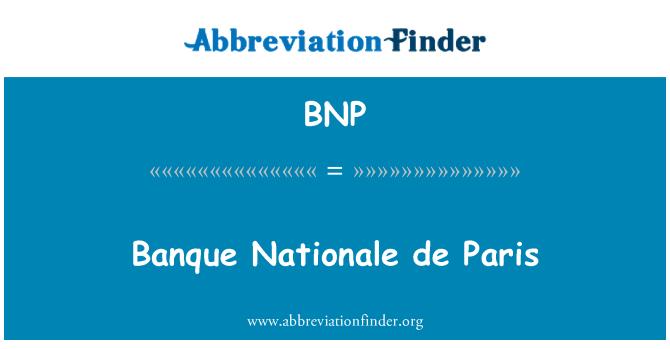 BNP: Banque Nationale de Paris