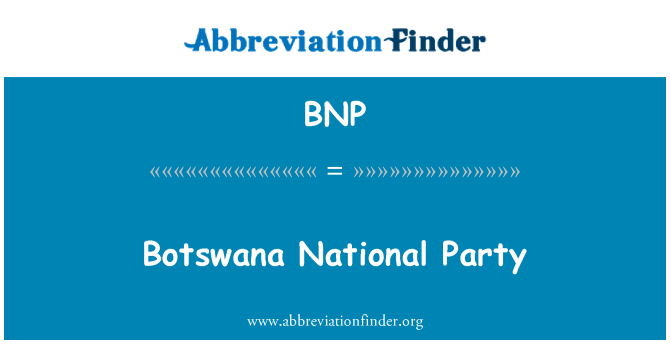 BNP: Botswana National Party