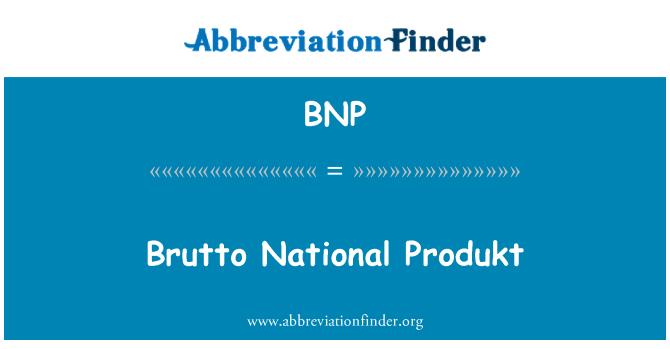 BNP: Brutto National Produkt