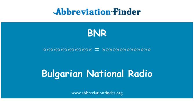 BNR: Bulgarian National Radio