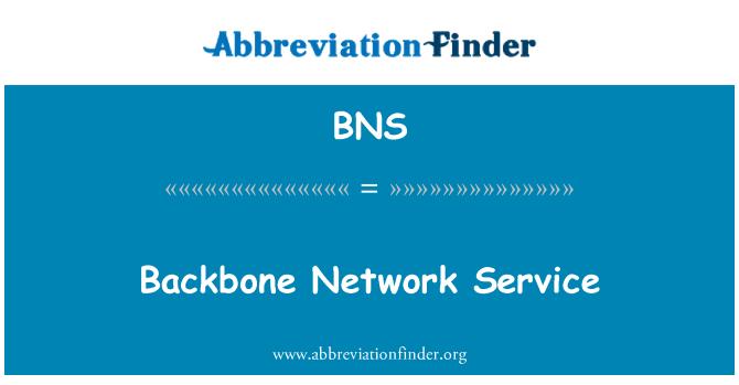 BNS: Backbone Network Service