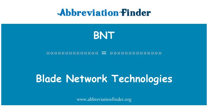 BNT: Blade Network Technologies