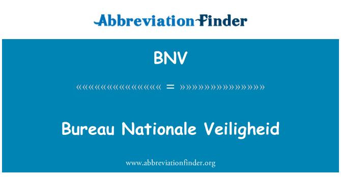 BNV: Bureau Nationale Veiligheid