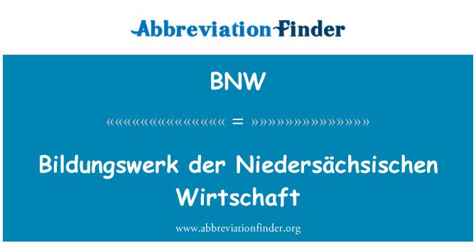 BNW: Bildungswerk der Niedersächsischen Wirtschaft