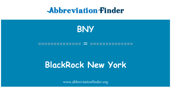 BNY: BlackRock New York