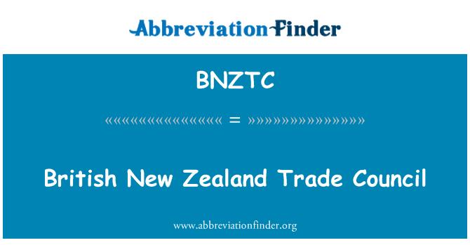 BNZTC: British New Zealand Trade Council