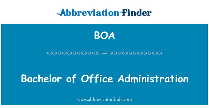BOA: Bachelor of Office Administration