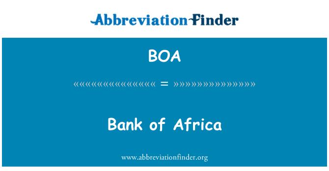 BOA: Bank of Africa