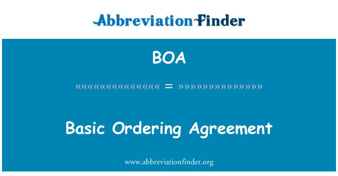 BOA: Basic Ordering Agreement