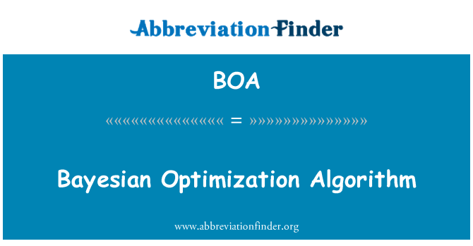 BOA: Bayesian Optimization Algorithm