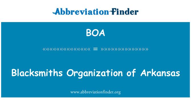 BOA: Blacksmiths Organization of Arkansas
