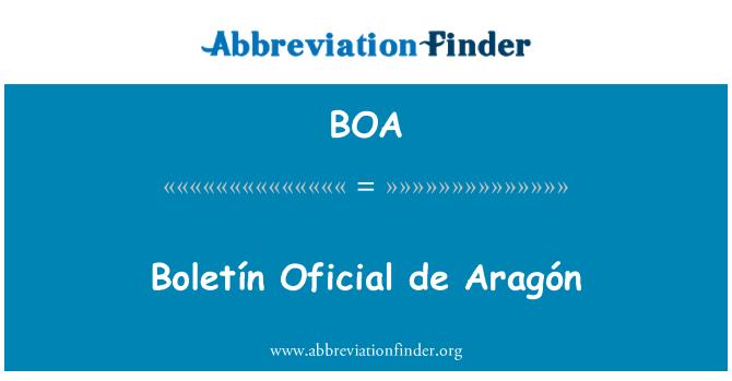 BOA: Boletín Oficial de Aragón