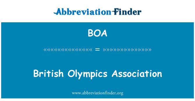 BOA: British Olympics Association