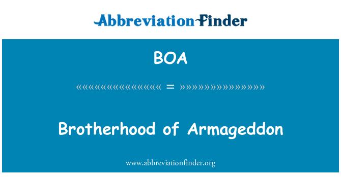 BOA: Brotherhood of Armageddon