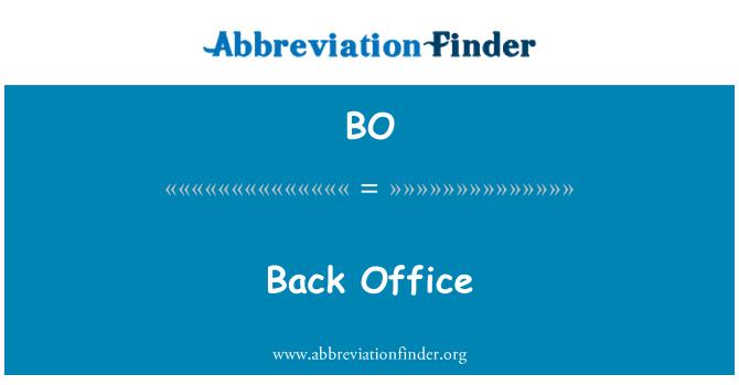 BO: Back Office