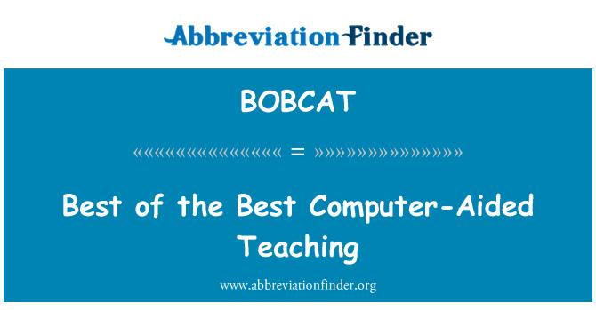 BOBCAT: 最好的最好的计算机辅助教学