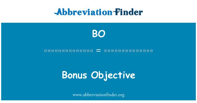 BO: Bonus Objective