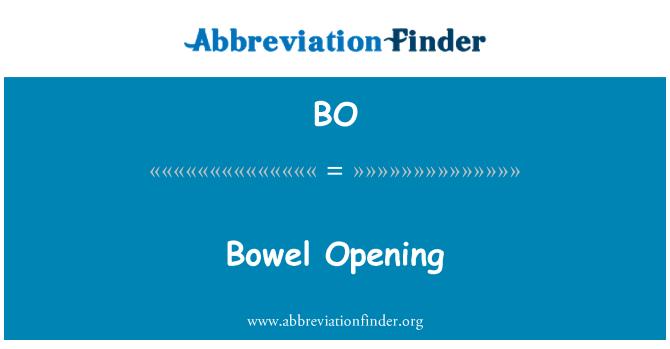 BO: Bowel Opening