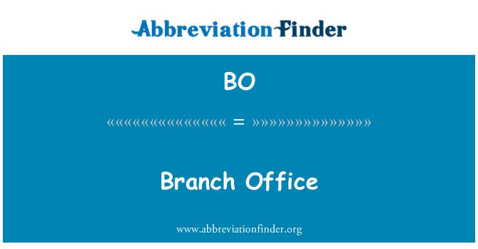 BO: Branch Office