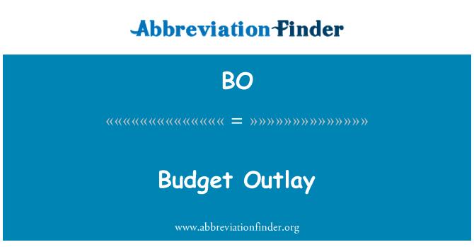 BO: Budget Outlay