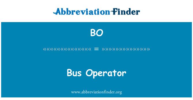 BO: Bus Operator