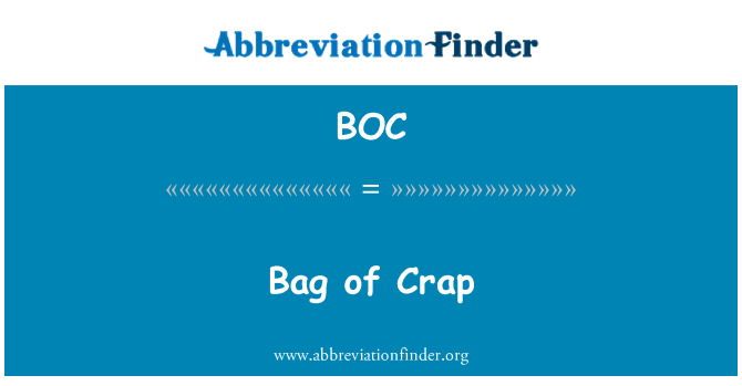 BOC: Bag of Crap