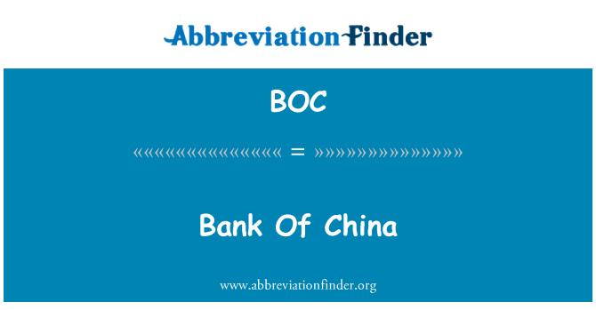 BOC: Bank Of China