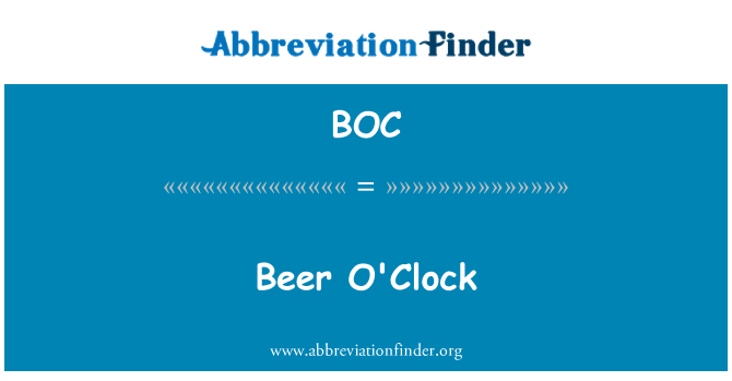 BOC: Beer O'Clock