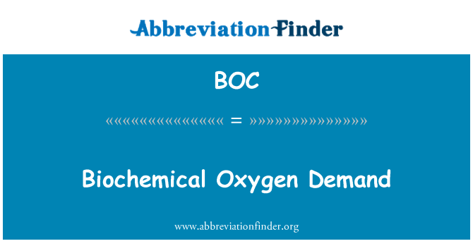 BOC: Biochemical Oxygen Demand