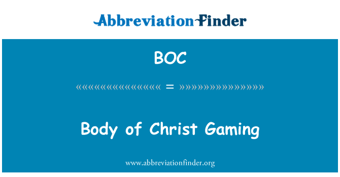 BOC: Body of Christ Gaming