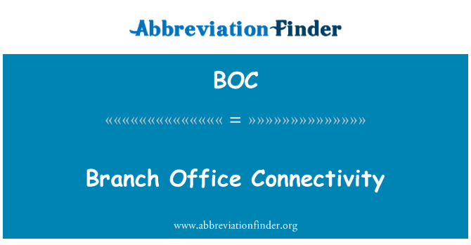 BOC: Branch Office Connectivity