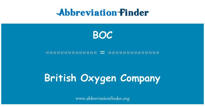 BOC: British Oxygen Company
