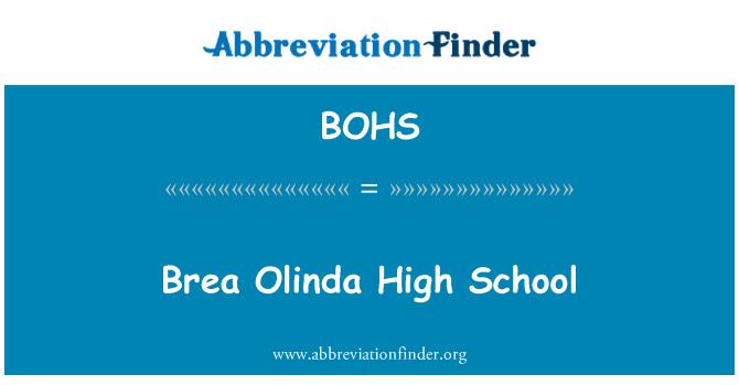 BOHS: Brea Olinda High School secundaria