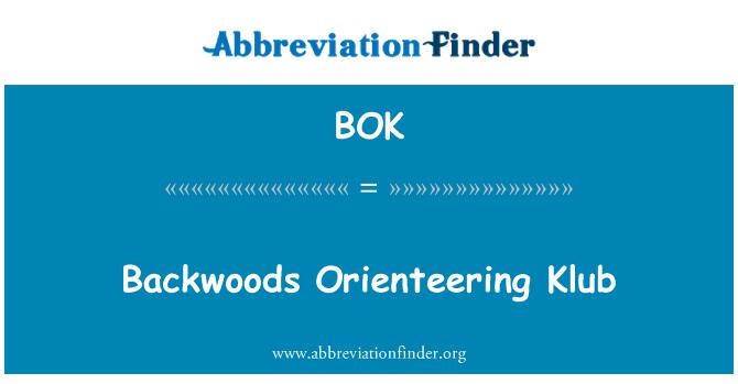 BOK: Backwoods Orienteering Klub