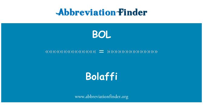 BOL: Bolaffi