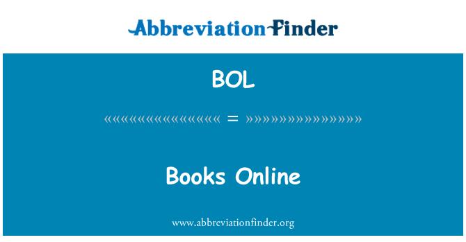BOL: Books Online