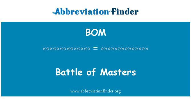 BOM: Battle of Masters